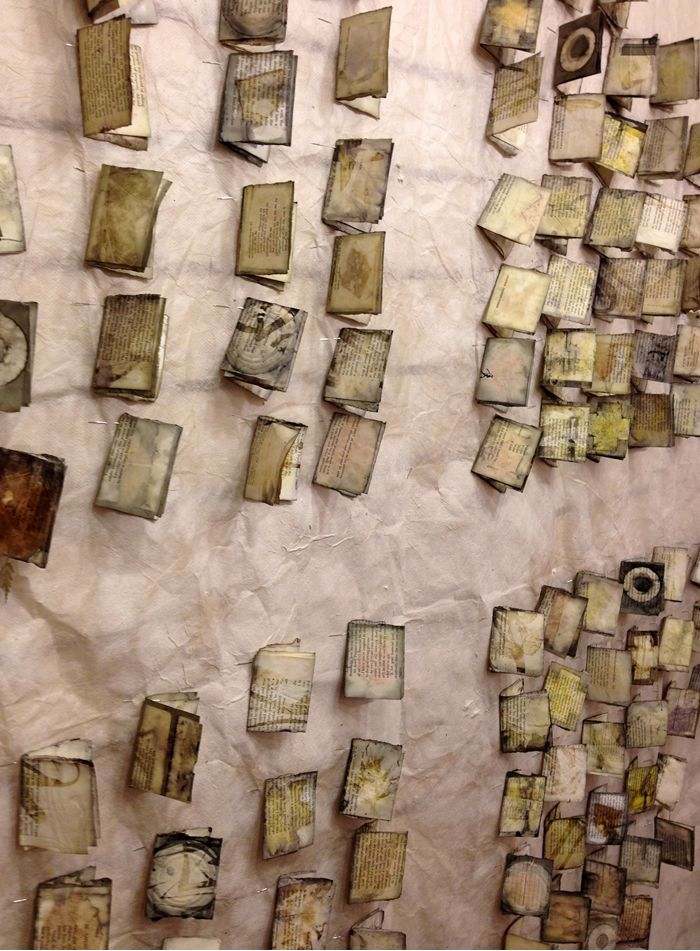 Eco printed repurposed book pages by India Flint. © India Flint