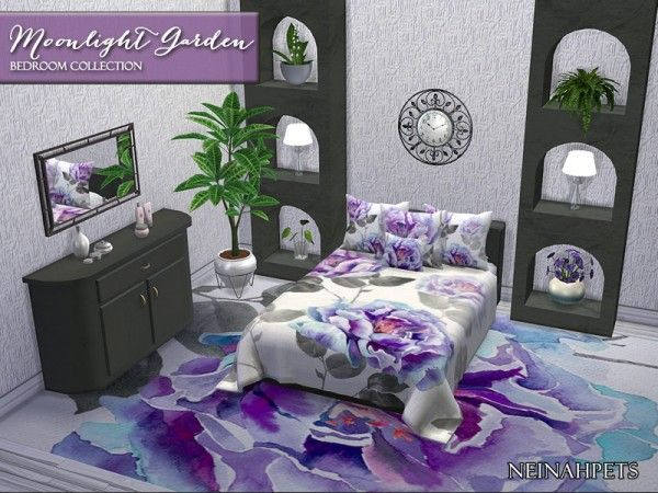 The Sims Resource Moonlight Garden Bedroom Collection By