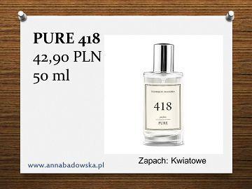 Perfumy PURE 418 damskie kwiatowe