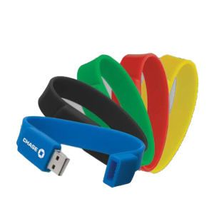 USB bracelet: It might be possible to use this as an alternative to Identification bracelets. Especially, if you can order words to be printed on the outside.