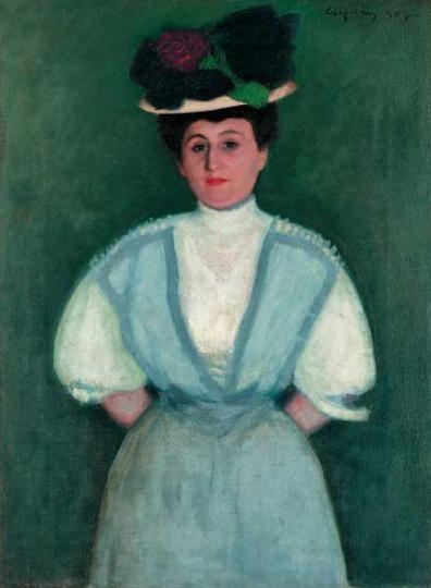 Czigány Dezső (1883-1938)  Női képmás, 1907  Olaj, vászon, 115x85 cm