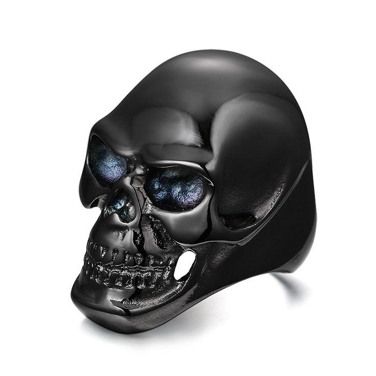 Cool Black Gold Plated Skull Rings //Price: $11.69 & FREE Shipping //     #skull #skullinspiration #skullobsession #skulls