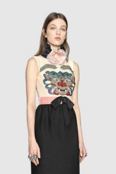 f222ea75f20e Details about Gucci Monster Embroidered Dress- With Tags- RRP$9,500 ...