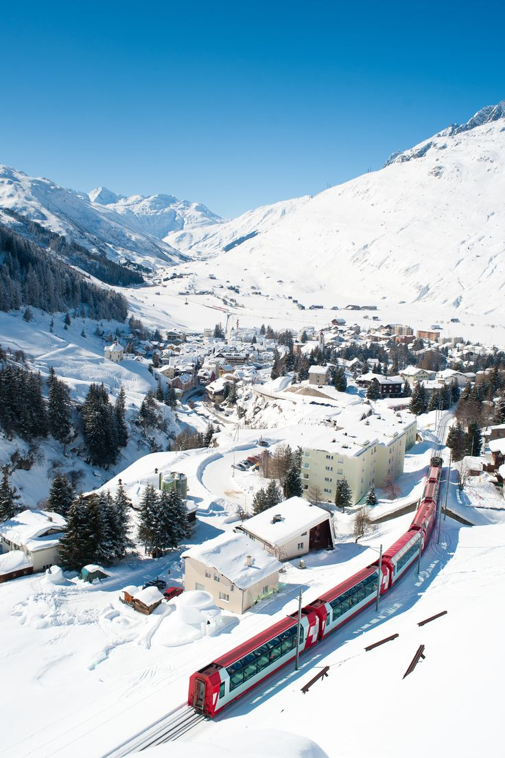 Andermatt in winter - Canton of Uri, Switzerland