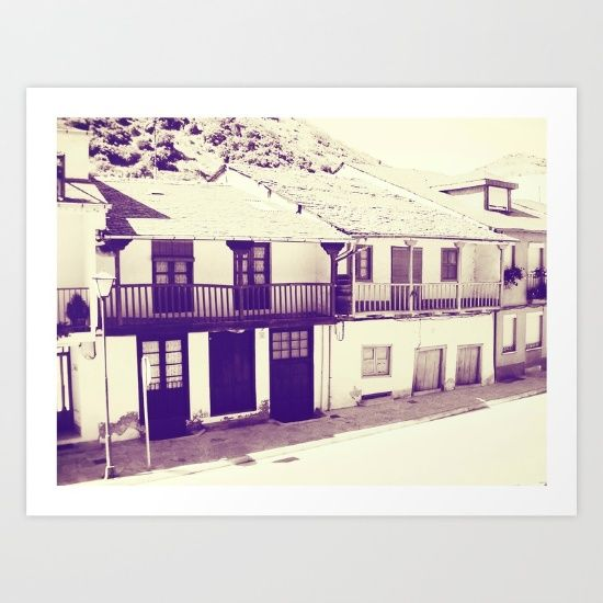 Collect your choice of gallery quality Giclée, or fine art prints custom trimmed by hand in a variety of sizes with a white border for framing. SHOP HERE! https://society6.com/product/old-spanish-houses-black-and-white-vintage-ouu_print?curator=wellglow