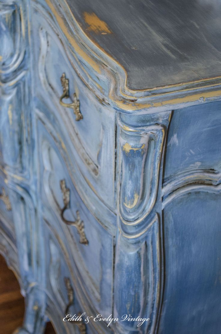"""The one piece of furniture in our home that gets the most attention and comments has to be the blue French Provincial dresser in our kitchen/breakfast room. It was recently part of our feature in the French magazine Shabby Style. It made me smile when they described it as a """"Louis XV commode"""". It just … … Continue reading →"""