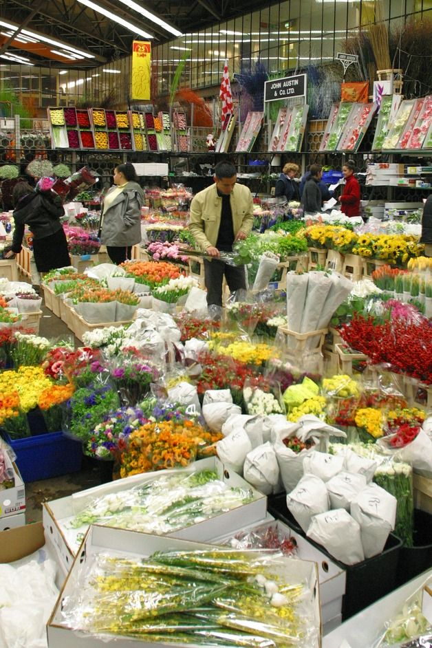 New Covent Garden Flower Market, Nine Elms, London SW8. You can buy flowers here at wholesale prices, get there at deatho'clock.....3am to 10am Monday to Saturday