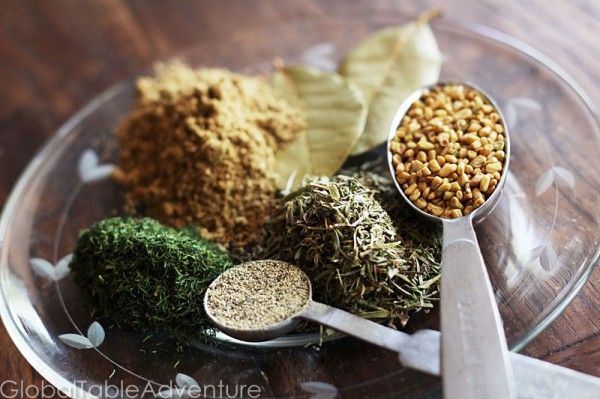 Khmeli-Suneli is a spice mix from the Caucas region of Georgia (at the border between Europe and Asia). Incidentally, this naturally vegan (and potentially gluten-free) spice mix can include a number of different spices, creating the possibility for some very tasty combinations.