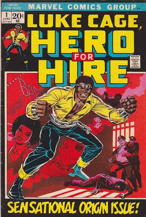 Luke Cage Hero For Hire #1 Cover Art By George Tuska  #lukecage
