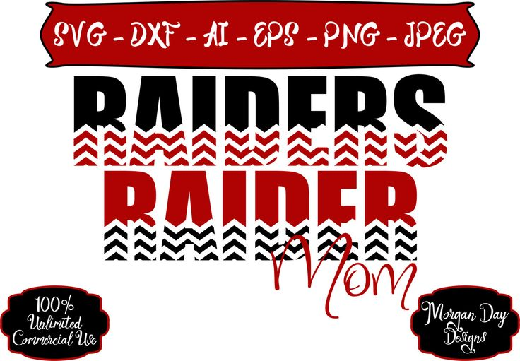 Raider Mom SVG - Basketball SVG - Baseball SVG - Football svg - Soccer svg - Raiders svg - Files for Silhouette Studio/Cricut Design Space by MorganDayDesigns on Etsy