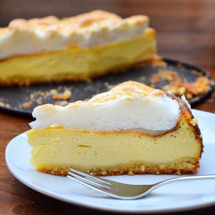 Cheesecake mit Baiserhaube