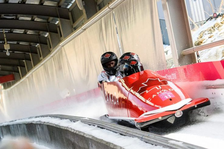 Christopher Spring, Lascelles Brown, Bryan Barnett and Neville Wright compete in the Bobsleigh 4 man at the 2018 Pyeongchang Winter Olympics Olympic Sliding Centre in Alpensia in Pyeongchang in South Korea. February 25, 2018