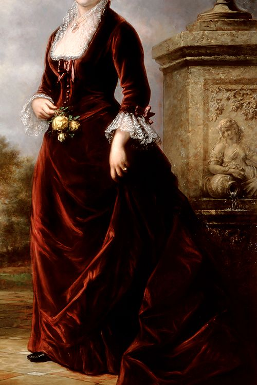 INCREDIBLE DRESSES IN ART (85/∞)First Lady Lucy Hayes by Daniel Huntington, 1881