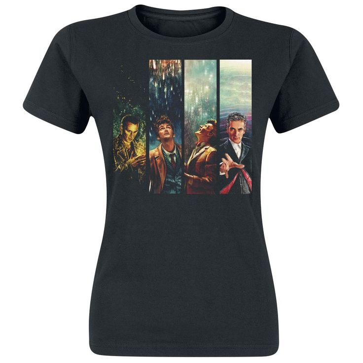 Alice X Zhang Four Doctors - T-Shirt von Doctor Who