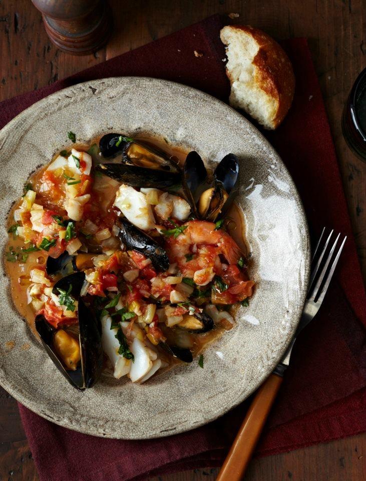 Mediterranean Seafood Stew. Photograph by Anna Williams