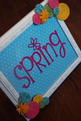 Spring Decor - Frame Revamp