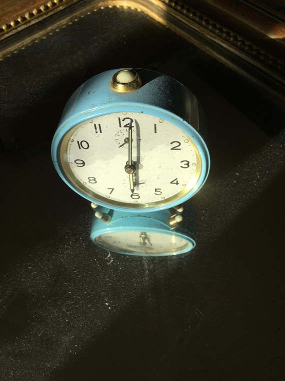 Blue Jaz alarm clock Vintage alarm clock gift for him