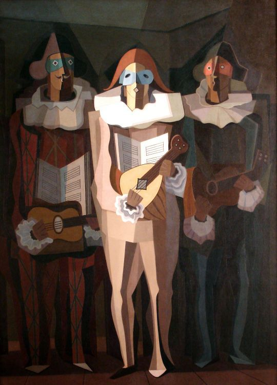 El improvisador (1937) Oleo sobre tela - - Emilio Pettoruti (Argentino 1892-1971) Museo Nacional de Bellas Artes de Buenos Aires