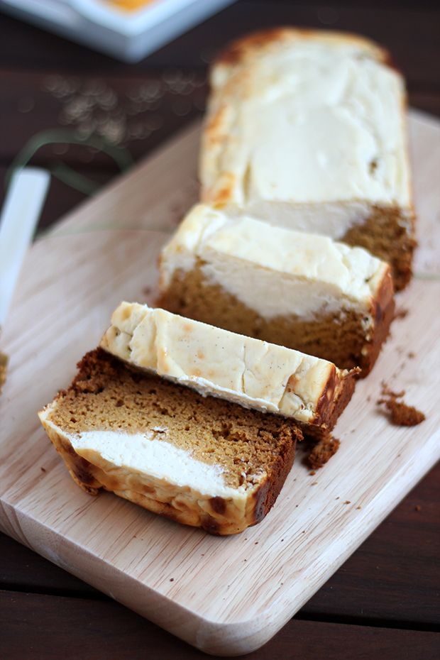 Spiced Pumpkin Cake Topped with Creamy Cheese Layer