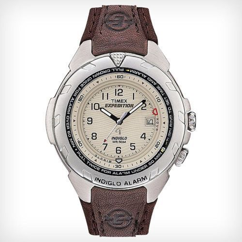 Item specifics    									 			Condition:  												 																	 															  															 															 																New with tags: A brand-new, unused, unopened, undamaged item in its original packaging (where packaging is  																  																		... - #Watches https://lastreviews.net/fashion/mens/watches/timex-t47902-mens-expedition-leather-watch-easy-set-alarm-indiglo-date/