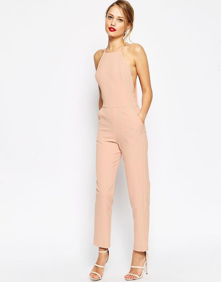 ASOS | ASOS Premium Halter Neck Jumpsuit at ASOS