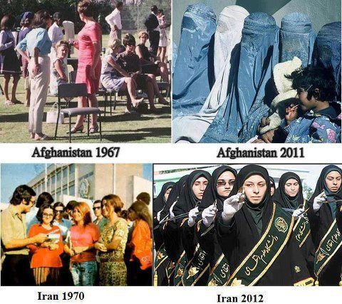 Before & After the Islamic Revolution.