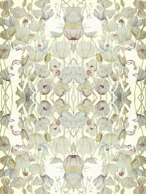 """""""poppy"""" by textile designer abigail hutton ... <3"""