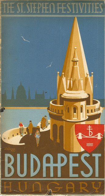 Budapest, Hungary - The St Stephen Festivities, 1934 - tourist brochure designed by I J F Richter by mikeyashworth, via Flickr