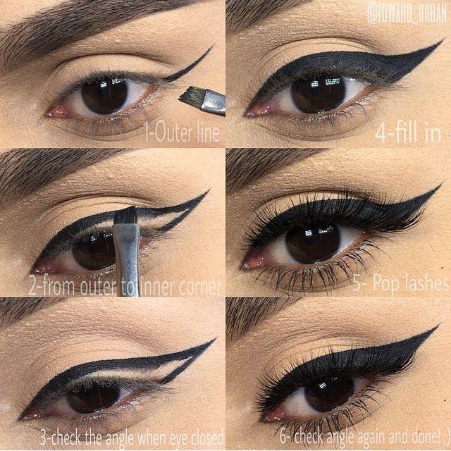 Best 25+ Winged eyeliner tutorial ideas on Pinterest ...