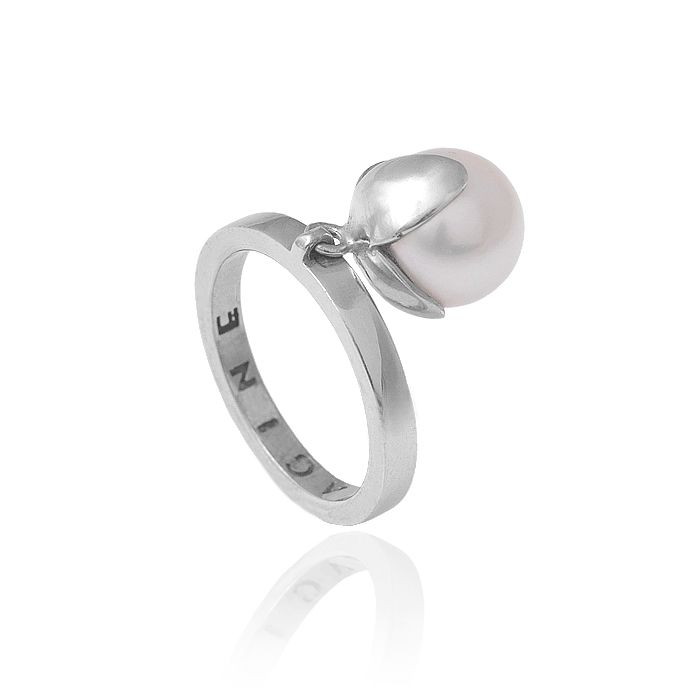 Orchidea silver and pearl ring