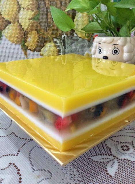 Maple Grace Garden                枫林温馨花园                                                          : ~~ ~ Tuity Fruity Manggo Yoghurt Jelly Cake  ~~ ~ ...