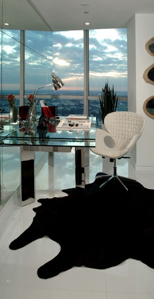 This was my childhood dream..an office with a view and amazing high heels!!!!