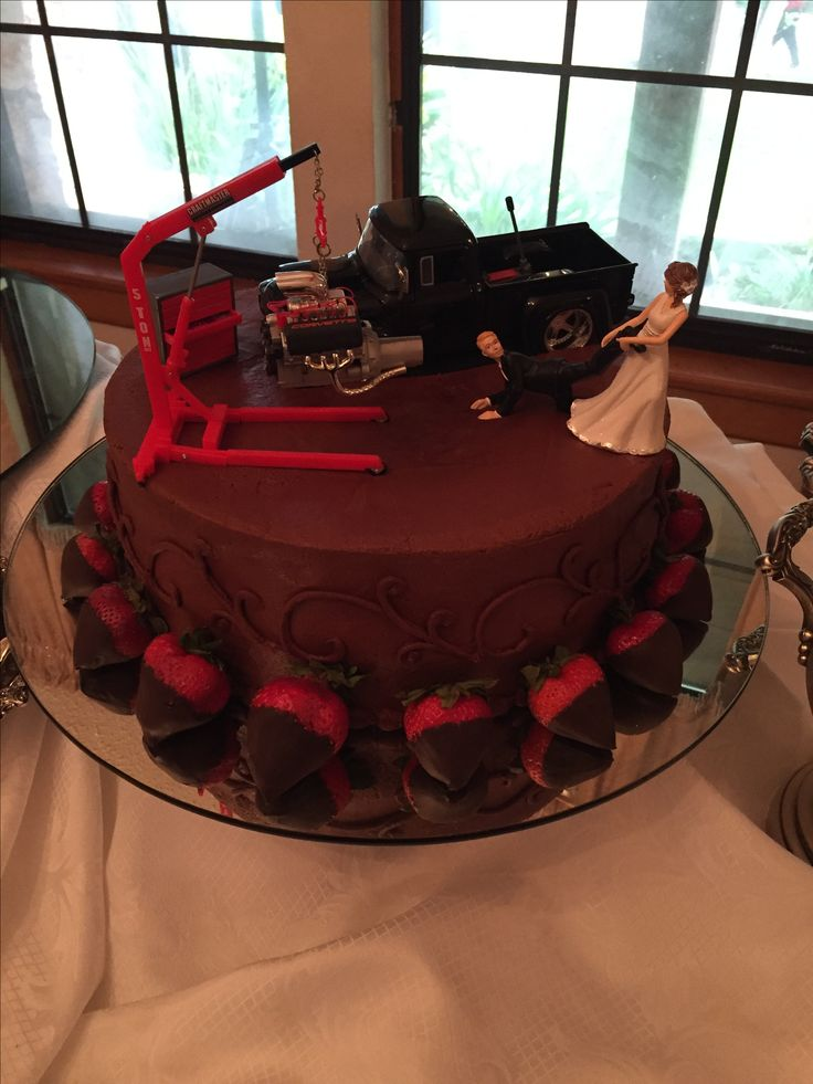 Perfect groom's cake for a mechanic!