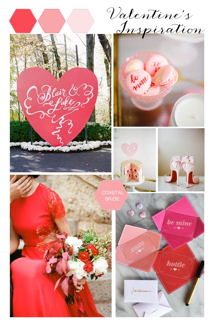 The prettiest red and pink Valentine's wedding inspiration for your big day!