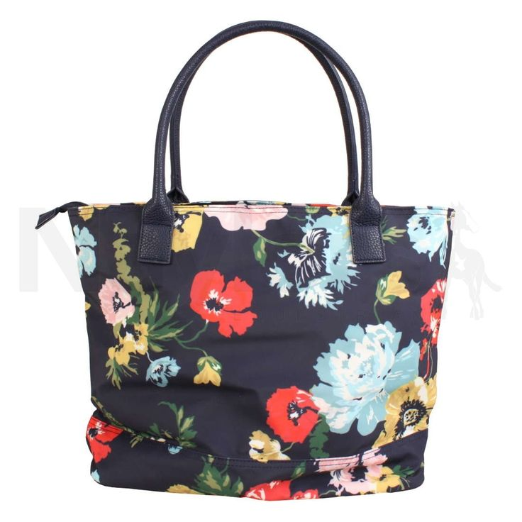 Joules Cariwell Printed Canvas Shoulder Bag French Navy Posy