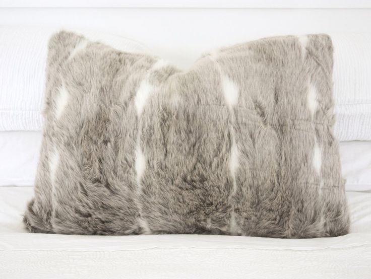 Lynx Faux Fur Cushion NZ $45, a functional addition to any room.