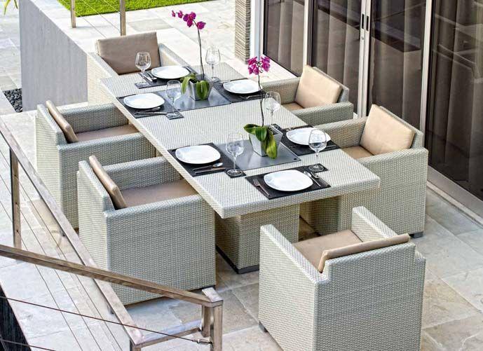 Mesas comedor con cubiteras de dise o exterior pacific for Comedor terraza easy