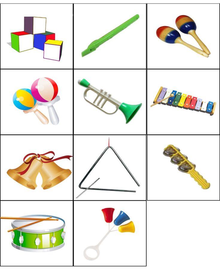 Задача: Упражнять детей в различении музыкальных инструментов по тембру звука