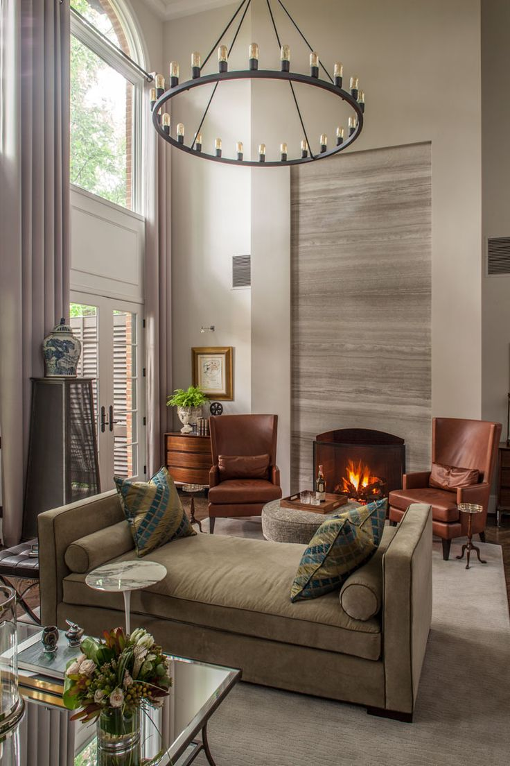 Designer Christopher Patrick Called On Furniture Maker Kaleo Kala To Create A Cozy Contemporary Great Room For Gentleman In Cleveland Park