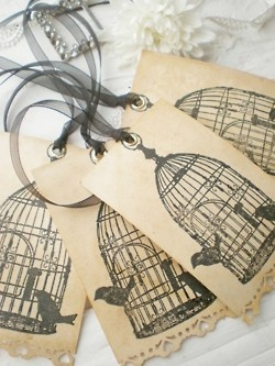 Inspiration Lane: Paper Packaging, Birdcages Tags, Packaging Tags, Gifts Ideas, Stamps Tags, Paper Tags, Gifts Tags, Inspiration Lane, Packaging Pretty