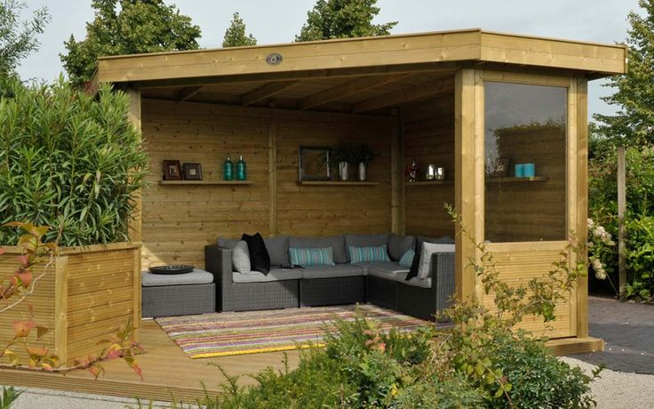 Houten overkapping hoekmodel outdoor cabin excellent . Houten overkapping . Buitenleven
