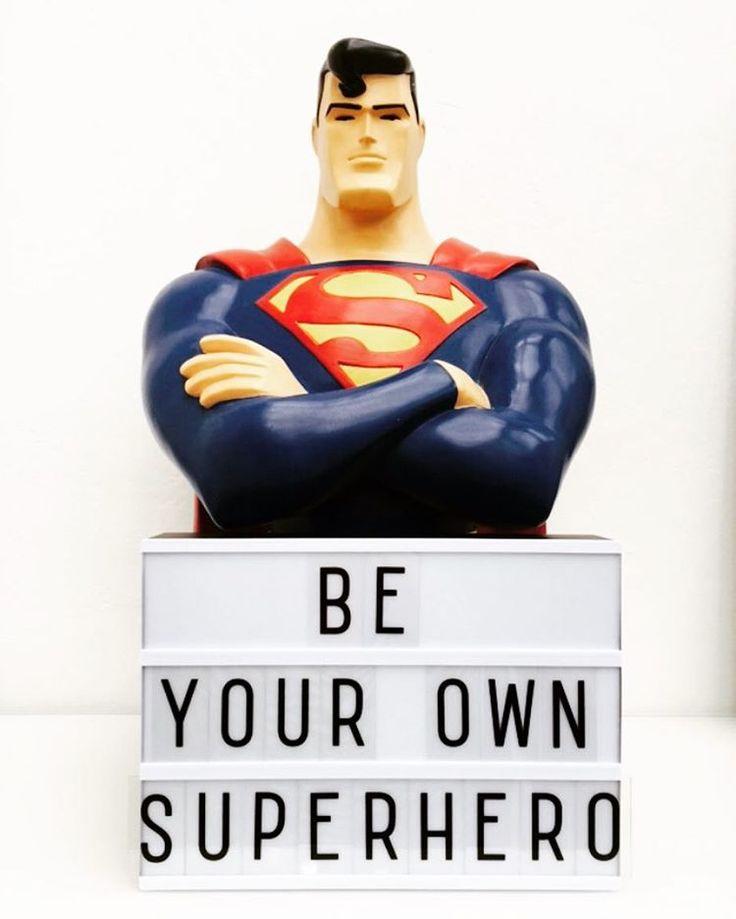 """11 Likes, 4 Comments - Christiane (@cozyday) on Instagram: """"Be your own superhero! #motivation #lightbox #alittlelovelycompany #alittlelovelylightbox #meingzh…"""""""