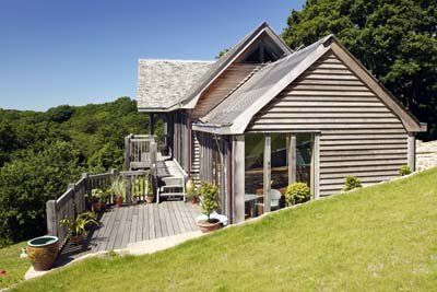 Exterior decking to Hillside house in Cornwall (photo: Nigel Rigden)