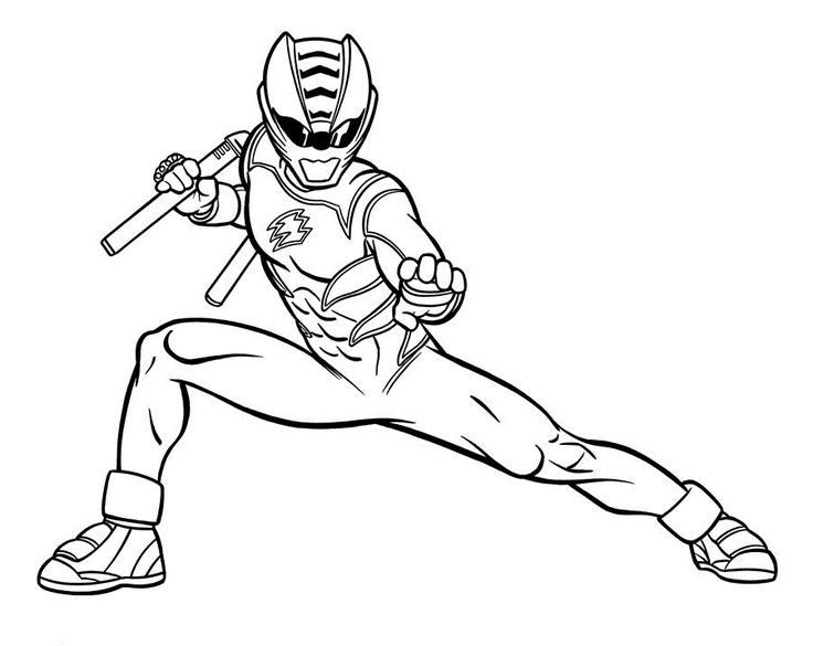 Blue Power Ranger Colouring Pages