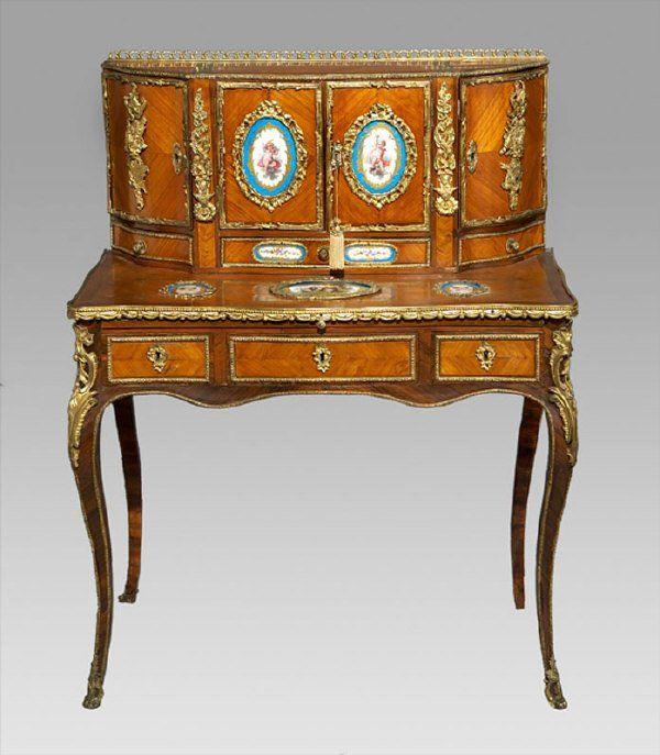 166 Louis XV Style Sevres And Ormolu Bonheur Du Jour Lot Dallas AuctionLuxury