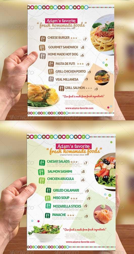 40 Commendable Food Menu Designs | Dzinepress
