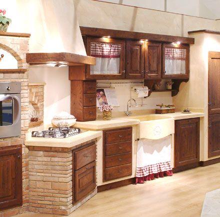 Cucina in muratura arredamento country pinterest for Pinterest arredamento