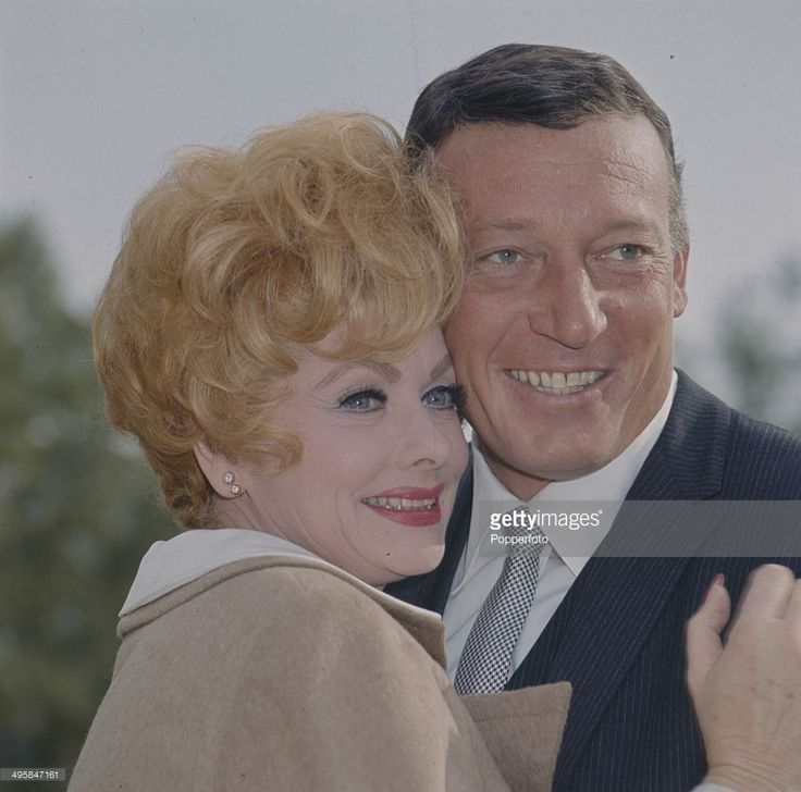 American comedienne and actress Lucille Ball (1911-1989) pictured with her husband Gary Morton (1924-1999) in 1966.