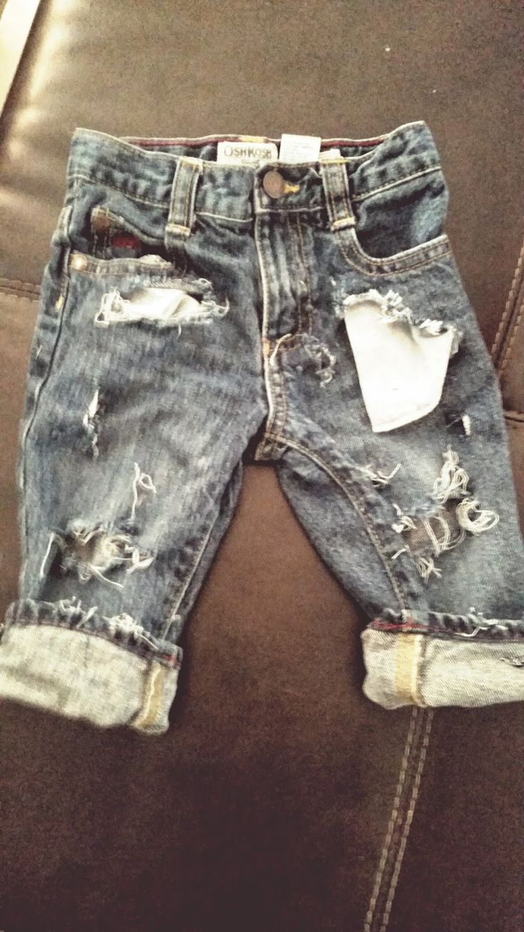 Because I Said So: DIY Distressed Jeans