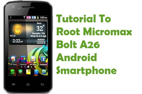 Find out the tutorial with step by step instructions to root Micromax Bolt A26 Android smartphone using iRoot Rooting software.